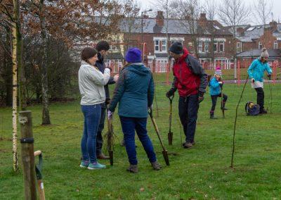 Tree planting in Kings Heath Park Jan 2019-11